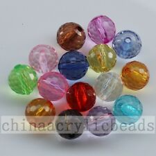 6-20MM Clear Colors Acrylic Basketball Round Jewelry Spacer Beads Charm Free Shi