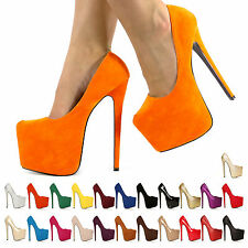 HOT NEW WOMENS LADIES HIGH STILETTO HEEL PLATFORM HEELS PARTY SHOES SIZE 345678