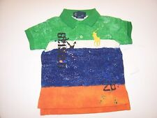 NEW POLO RALPH LAUREN big pony shirt baby infant toddler boys green orange blue