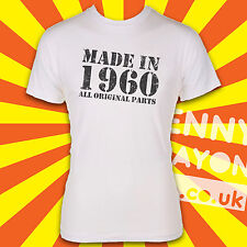 Made In 1960's / Born in 1960's T-Shirt - All original parts! The Sixties