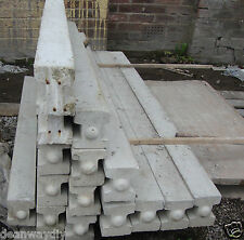 8ft/6ft/4ft6 Concrete Slotted Garden Fence Posts, Manchester Delivery, New