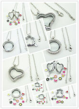 HOT SELL!Floating Charm Memory Locket Necklace Pendant Necklace Charms