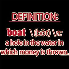 Definition Boat: A Hole In The Water In Which Money Is Thrown HOODIE Small - 5XL