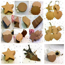 100pcs Blank Kraft Paper Marked Blank Card Hand Draw Tags Labeled Card Brown