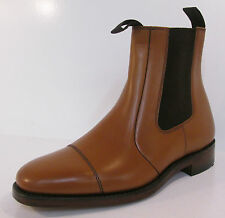 Mens Newbury G fitting tan leather pull on boots by Loake