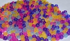 Glow-in-the-Dark UV Color Changing Pony Beads - Glowing & Ultraviolet 7 Colors