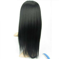 """Full Lace 100% Remy Human Hair Wig 8""""-24"""" Yaki Straight #1 #1b Color"""