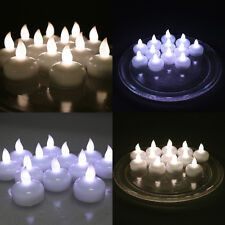 12 X Waterproof LED Floating White Tealight Flameless Candle Party Xmas