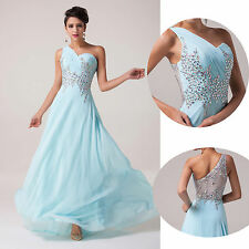 Mint Long Bead Evening Formal Wedding Gown Prom Dresses Party Bridesmaid Dresses