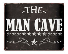 """The MAN CAVE Shabby Chic 8x10"""" Metal Sign Dad Gift Idea Retro Home Shed #235"""