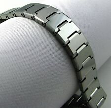 "BRAND NEW 12 MM WIDE TUNGSTEN CARBIDE 8.5"" BRACELET (TUC 005) - FREE SHIPPING!"