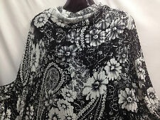 """Quality Designer Floral Paisley Stretch Jersey Crochet Lace Fabric 62""""*FREE P&P*"""