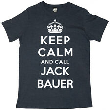 24 KEEP CALM AND CALL JACK BAUER MENS KIEFER SUTHERLAND TV SERIES T-SHIRT