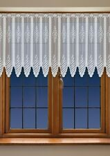 "CAFE NET CURTAIN, price per metre, drop 12"" or 35"" or 43"" ready to hang up,Cream"