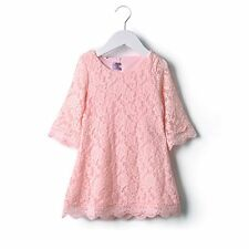 Kids Girl Baby Cool Lace Dress Clothing Sets Floral Flower Lace Party Skirt 2-7Y
