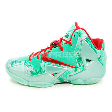 Nike Lebron XI [616175-301] Basketball Christmas Green Glow/Lite Crimson