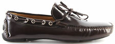 Men's Shoes Moccasins Loafers ROMEO GIGLI MILANO Brush T. Moro Brown Elegant New
