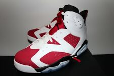 Air Jordan Retro 6 VI Carmine White Red Sneakers Men's 10.5 12 13 Brand New