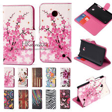 Leather Printed Wallet Magnetic Flip Stand Case Cover For Nokia Lumia 630