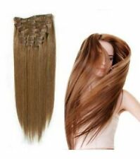 FULL HEAD CLIP-IN HAIR EXTENSIONS 100% HUMAN HAIR 22 INCH PINK LUST