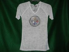 Pittsburgh Steelers Burnout Tee With Bling In White 3029