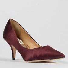 "Badgley Mischka ""Monika-II"" Pointy Toe Wine Satin Pump"