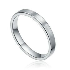 3mm Tungsten Carbide Ring Brushed Center Men's Jewelry Wedding Band Comfort Fit