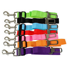 "7 Colors 1.0"" Width Adjustable Nylon Dog Pet Car Vehicle Seat Safety Belt Clip"