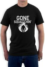 GONE SQUATCHIN FINDING SASQUATCH BIGFOOT T-Shirt RESEARCH TEAM YETI HUNTER