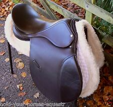 BN German D FLEX COB leather saddle especially designed for rounder breeds