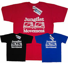 Junglist Movement Drum and Bass Clubbing Turntables Decks Music T-Shirt