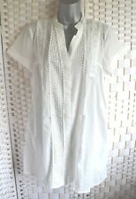 Love Label Pin Tuck and Lace Ivory White Blouse / Tunic