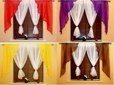 BEAUTIFUL MODERN MADE CURTAIN CURTAINS VOILE,WHITE,RED,YELLOW,BRONZE,PURPLE