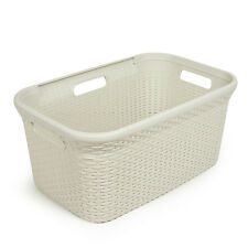 CURVER LAUNDRY STYLE BASKET 45L  RATTAN  Mangle plastic container cream ENG