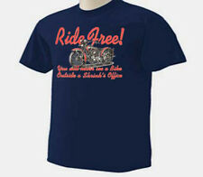 Motorcycle Ride Free You Never See A Bike Outside A Shrink's Office T-Shirt