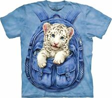 Backpack White Tiger Adulto  Animals Unisex T Shirt The Mountain