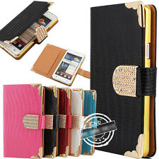FLIP DIAMOND MAGNETIC WALLET LEATHER CASE COVER FOR SAMSUNG GALAXY S2 II I9100
