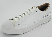 Mens ARK white leather lace up trainers by Marc Ecko £25.00