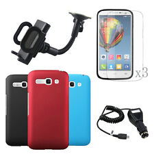 6in1 Hard Case Cover+LCD+Car Charger+Holder For Alcatel One Touch Pop C9 OT7047D