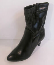 ladies L8554  black man made ankle boot slim 3.25 heel by coco