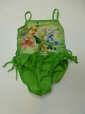 Disney Faries Girls Size XS (4/5) Green Tinkerbell Swimsuit Great Condition
