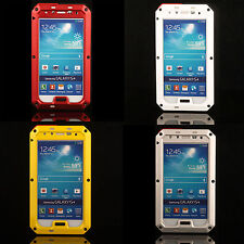 Aluminum Metal Bumper Glass Hard Back Case Cover For samsung galaxy S4 i9500