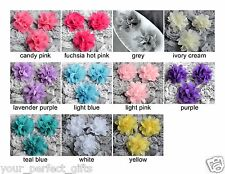 6 Chiffon Tulle Chic Rose Flower Silk for Bridal Wedding Baby Hair Comb Clip