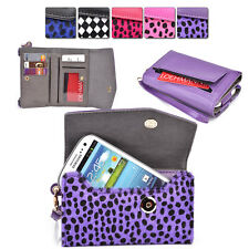 Womans Designer Patterned Wristlet Wallet Cover fits Verizon Mobile Cell