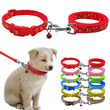 Nylon Small Dog Puppy Collar and Leads Leash with Bell for Chihuahua Star Prints