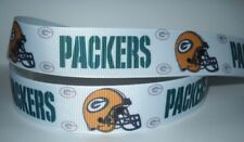 """GROSGRAIN GREEN BAY PACKERS 1"""" INCH RIBBON **YOUR CHOICE OF 1, 3 OR 5 YARDS**"""