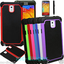 Hybrid Rugged Impact Rubber Hard Case Cover for Samsung Galaxy Note 3 III