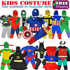 NEW SIZE 1~10 KIDS COSTUMES BOYS DRESS UP PARTY SUPERHERO BATMAN COSTUME TOYS
