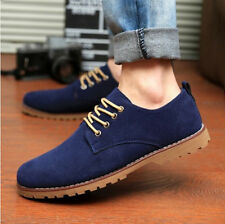 Korean men's round toe lace casual breathable driving pump flat board shoes