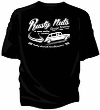 """""""Rusty Nuts Garage Services"""" t-shirt. Renault 4."""